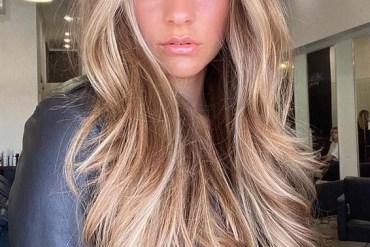 Face Framing Long Hairstyles with Balayage Shades