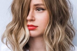 Fresh Look of Textured Lob Haircuts for Girls