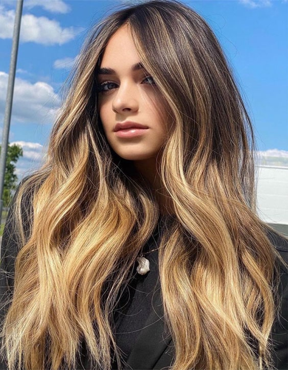 Super Cute Balayage Highlights & Hairstyle Trends