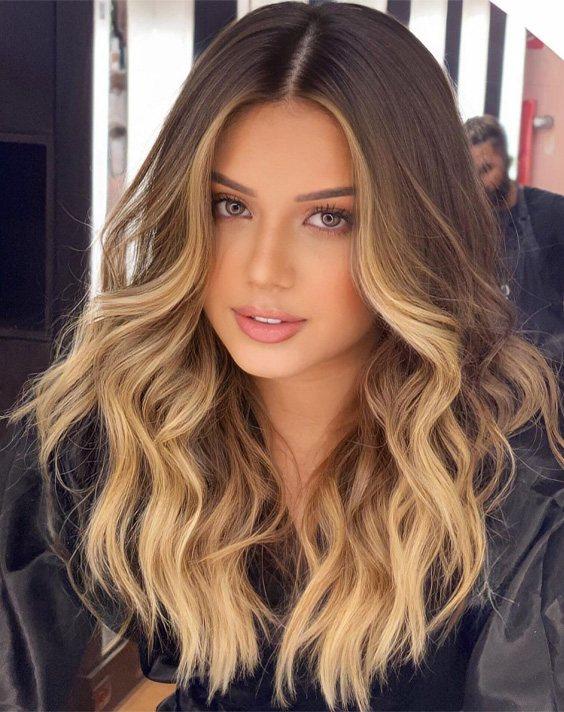 Golden Blonde Highlights for Long Hair In 2021