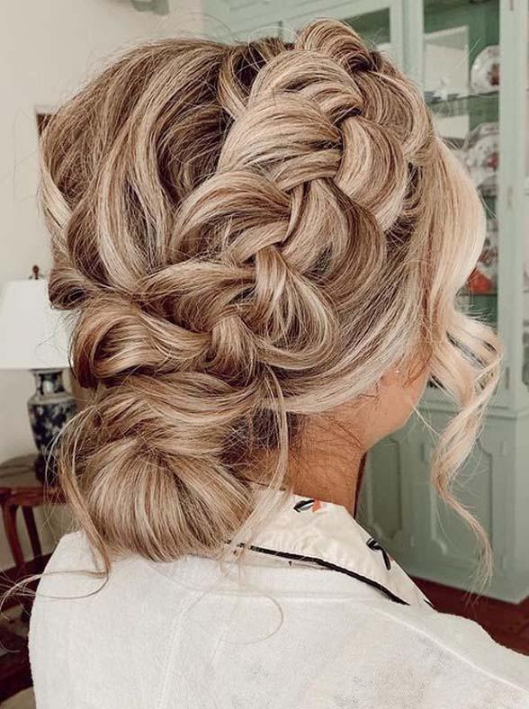 Effortless braided updo Hairstyles