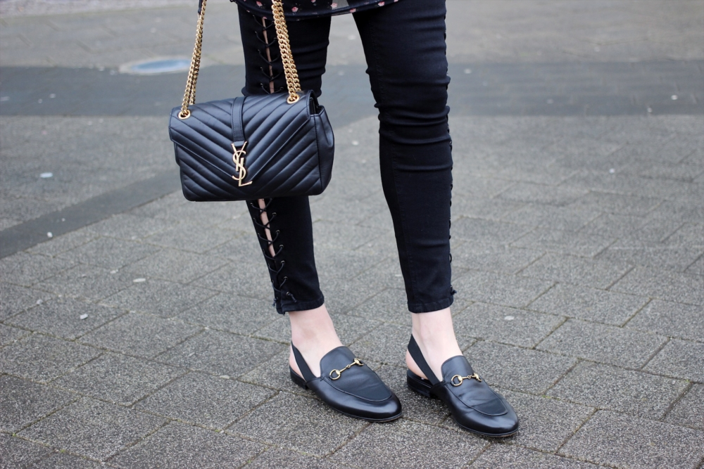 f00731434c8 Gucci loafers and YSL bag street style inspiration — High Street ...