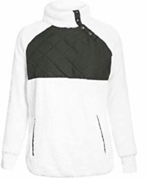 Amazon Fashion Stand Collar Button Pullover Sweater