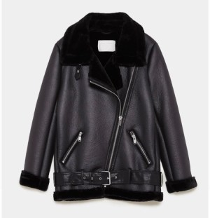 Zara Biker Aviator Jacket