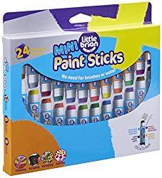 Little Brian Mini Paint Sticks-24 Assorted Colours
