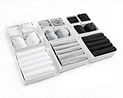 Set of 12 White Drawer Dividers for Home Clothes Storage
