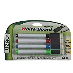 Assorted Pack of 4 White Board Markers