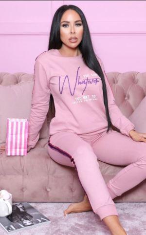 Pink Glitter Side Loungewear Set – Azaria