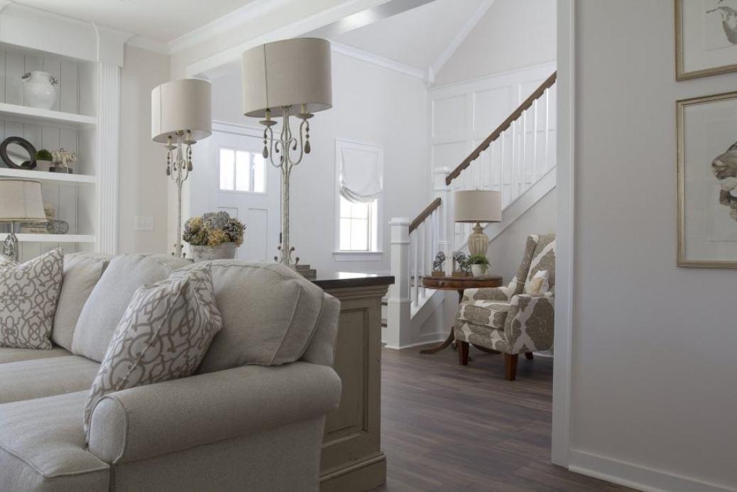 living room organised tidy