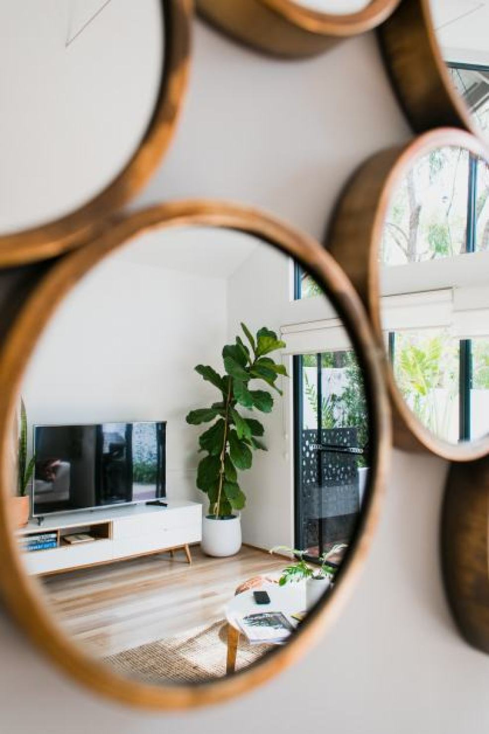 mirror and window of home decor