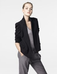 Country Road double breaster blazer $299 Metallic tank $79.95 Pleat-front pants $199 www.countryroad.com.au