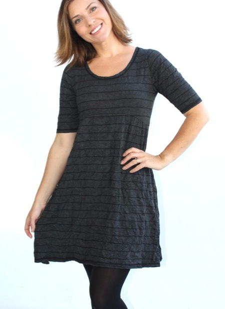 Model and author Jodie Hedley-Ward in the Verily Scrunch Scooped Tunic Dress $75