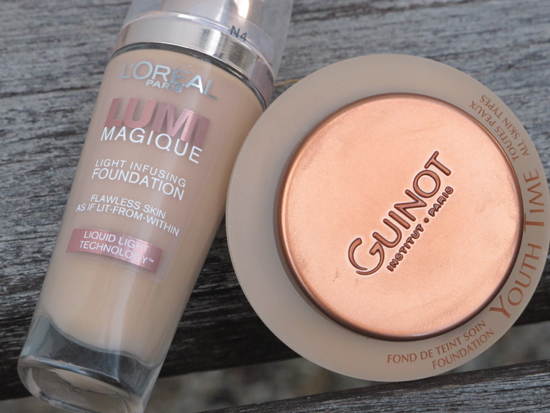 Budget buy: L'Oreal Paris Lumi Magique Light Infusing Foundation $33.95   Luxe buy: Guinot Youth Time Anti Ageing Foundation $89