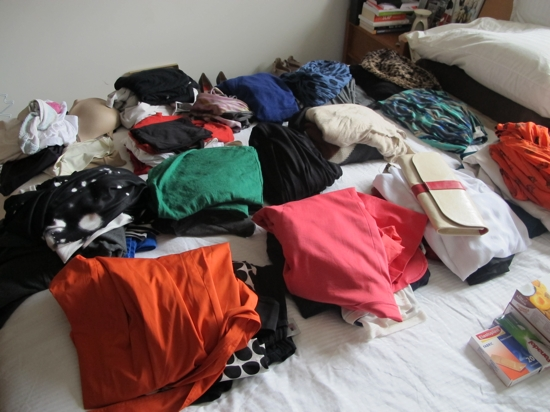 """... and to pack for a """"fashion"""" week away. A girl needs a lot of options!"""