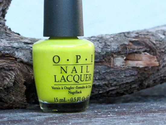 OPI Did It On 'EM chartreuse nail colour