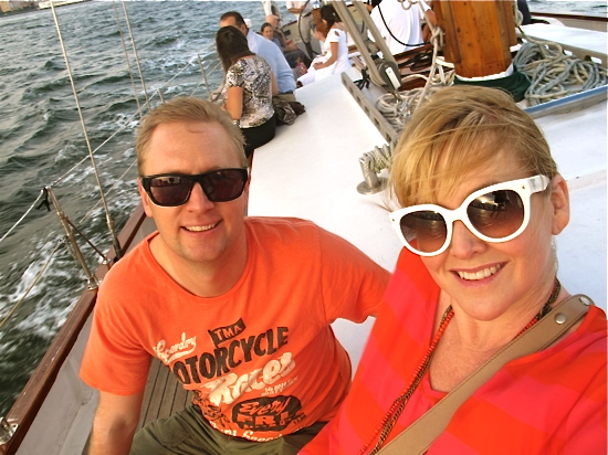 Date night: sunset sailing on the Hudson River, New York City