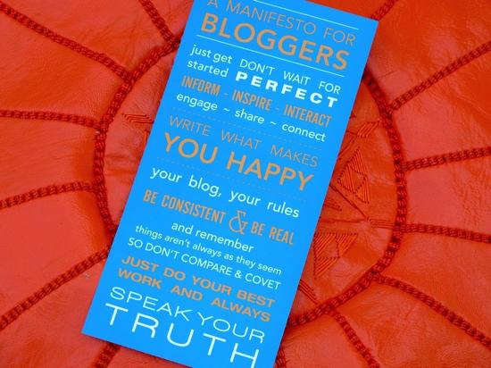 A Manifesto for Bloggers | Kelly Exeter | OzBlog Hosting
