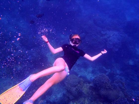 Nusa Lembongan cruise to snorkel on reef, Bali