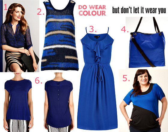 Do wear colour. Don't let it wear you {cobalt/navy}