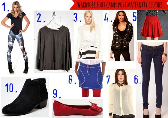 Wardrobe boot camp: post maternity clothes