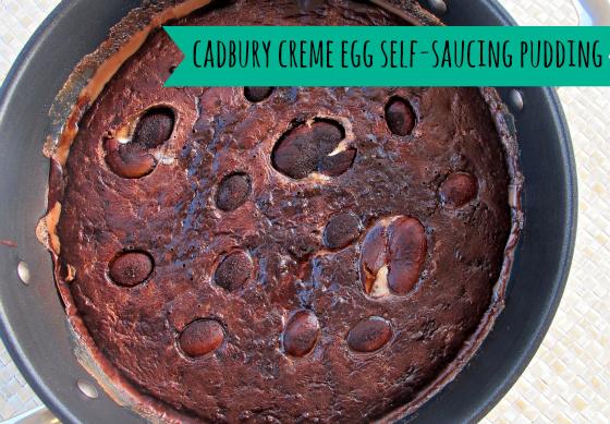 Cadbury Creme Egg self-saucing pudding
