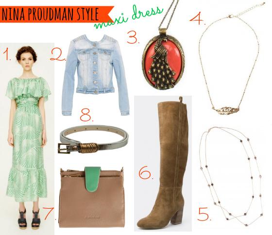 Nina Proudman S4 Ep 1 maxi dress outfit