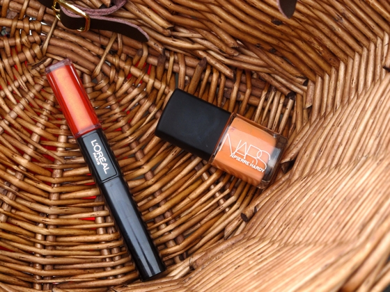 Beauty love: L'Oreal Paris Infallible lip colour; Nars with Pierre Hardy nail colour