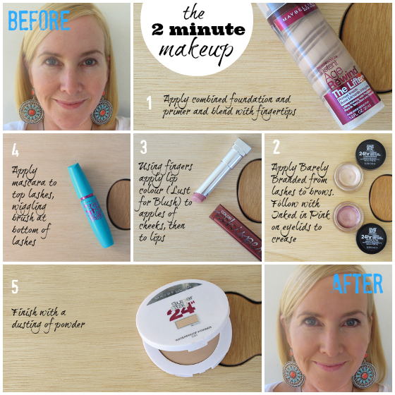 The 2 minute makeup (featuring Maybelline NY)