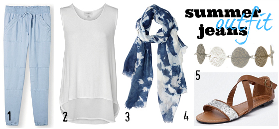 Jeans for summer outfit   Styling You   How to wear jeans in summer