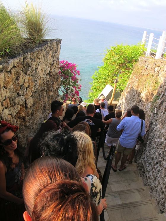 Queue for sunset at The Rock Bar