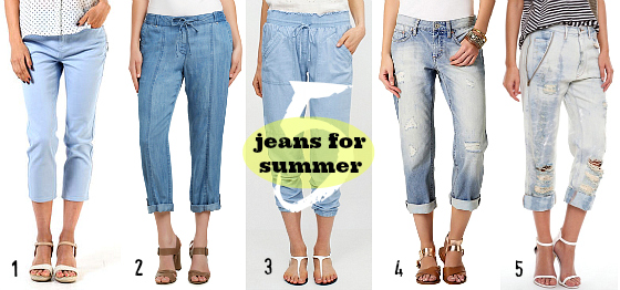 Jeans for summer