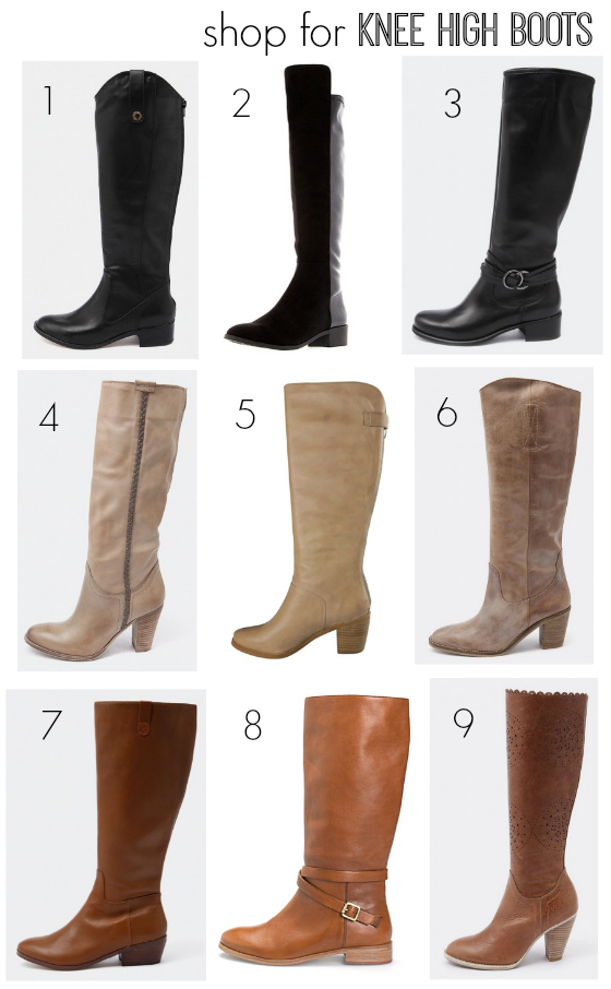 Knee high boots AW14