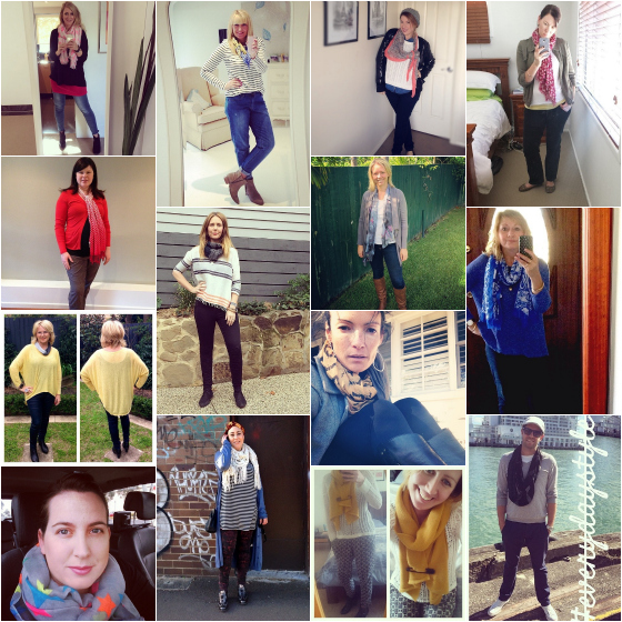 Everyday style outfits of the week - how to wear a scarf