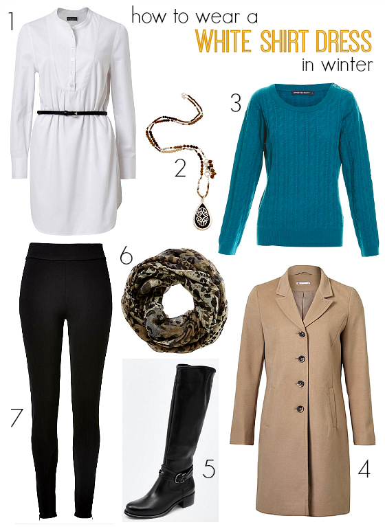 How to wear a white shirt dress in winter | Your style questions answered