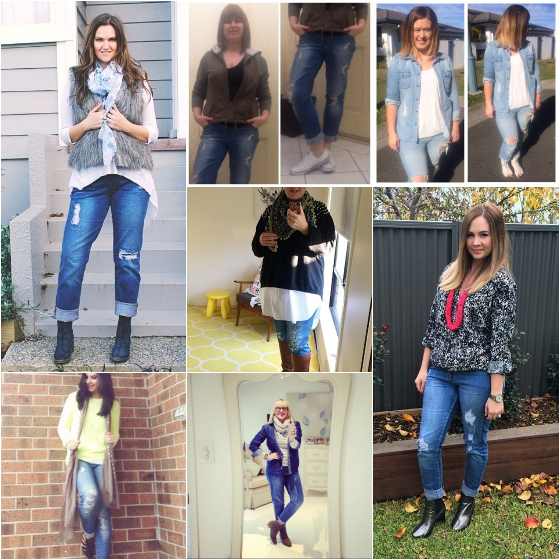 The real women of #everydaystyle wearing ripped jeans