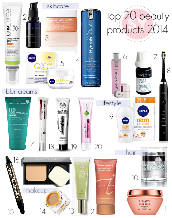 Styling You top 20 beauty products 2014