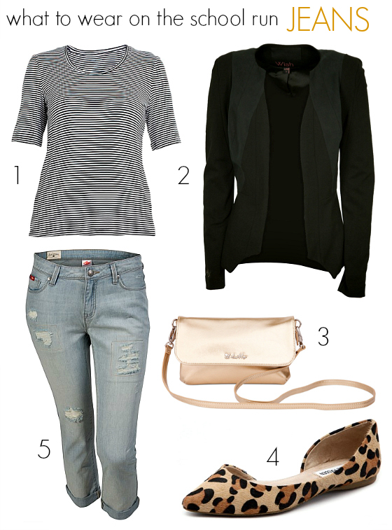 what to wear on the school run - jeans