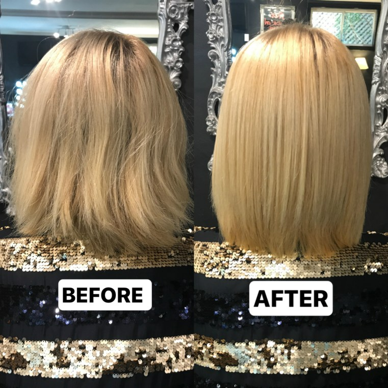 Before and After: keratin smoothing treatment