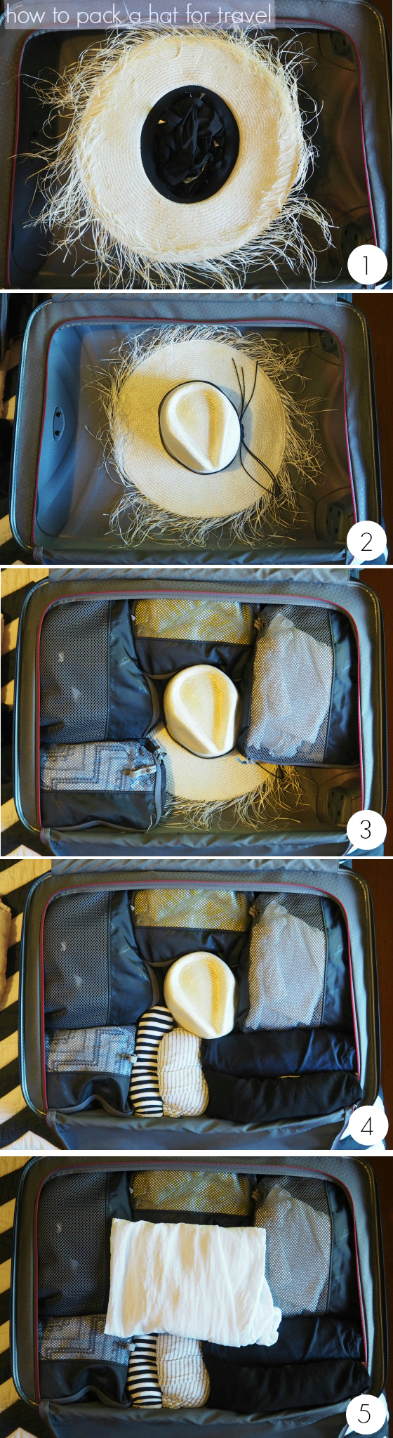 how to pack a hat for travel