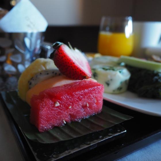 Etihad Business Studio | gluten-free breakfast