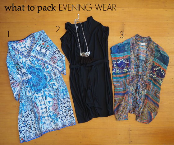 what to pack - evening wear - European summer holiday
