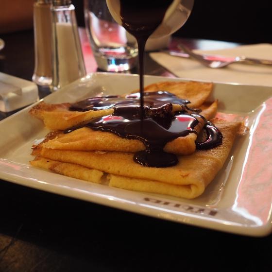 chocolate crepes Paris France