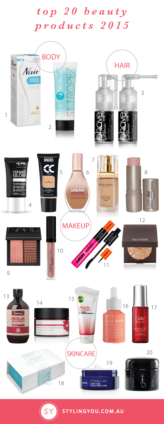Styling You Top 20 beauty products 2015