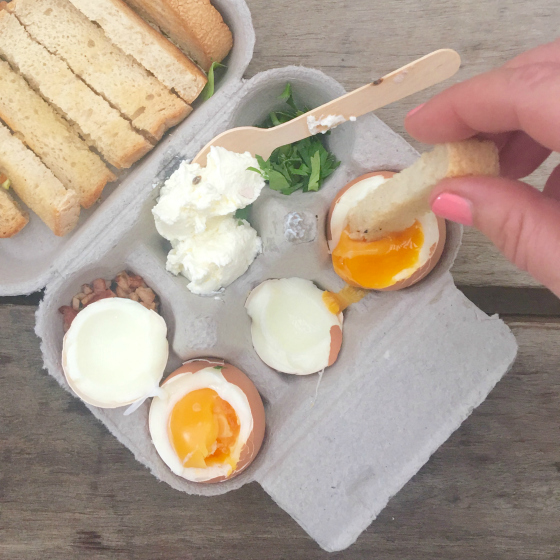 Dippy eggs at Paddock Bakery, Burleigh Heads