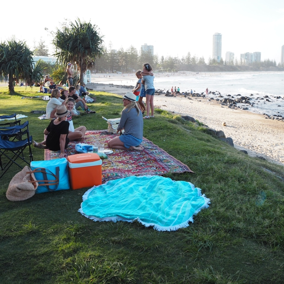 Picnic on Burleigh Headland