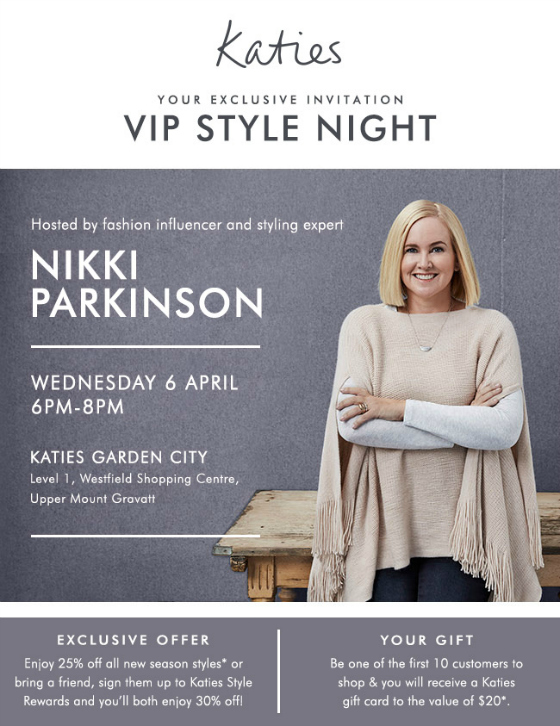 Styling You in store at Katies Westfield Garden City