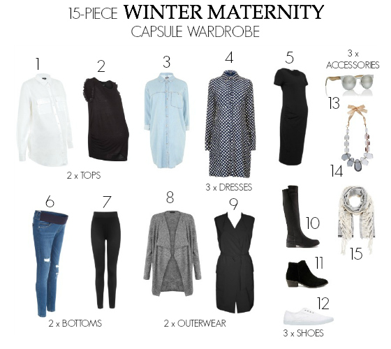 winter maternity capsule wardrobe pretty chuffed styling you