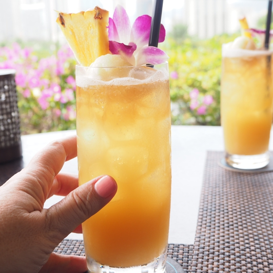 Mai Tai (with ball of sorbet) Trump International WAI'OLU Ocean View Lounge | 17 tips for travelling to Hawaii if you're a newbie