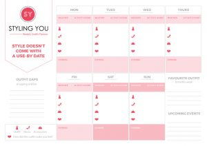 Weekly outfit planner printable | Styling You