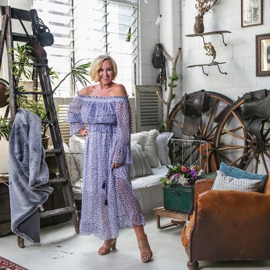Marks & Spencer Australia Floral Print Bardot Midi Dress
